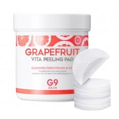 ватные диски для пилинга berrisom g9 grapefruit vita peeling pad
