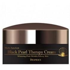 крем для лица с черным жемчугом антивозрастной deoproce black pearl therapy cream