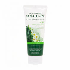 пенка для умывания кактус, ромашка deoproce natural perfect solution cleansing foam mild