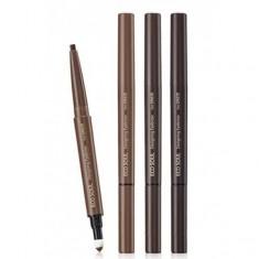 карандаш для бровей 3 в 1 the saem eco soul designing eyebrow