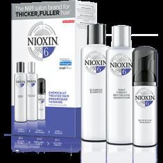NIOXIN Набор XXL Система 6 (шампунь очищающий 300 мл, кондиционер увлажняющий 300 мл, маска питательная 100 мл)