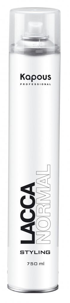 KAPOUS Лак аэрозольный нормальной фиксации для волос 750 мл