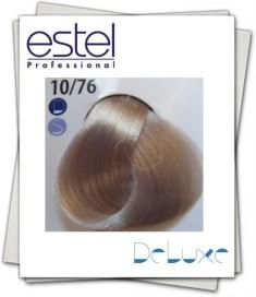 ESTEL PROFESSIONAL 10/76 краска для волос, светлый блондин коричнево-фиолетовый для 100% седины / DE LUXE SILVER 60 мл