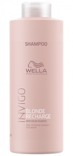 Wella Invigo Blonde Recharge Шампунь-нейтрализатор желтизны для холодных светлых оттенков 1000мл