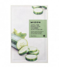 Тканевая маска с огурцом MIZON Joyful Time Essence Mask Cucumber