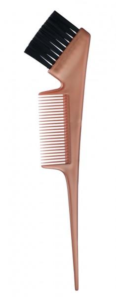 KAPOUS Кисть для окрашивания волос с расческой, бронзовая
