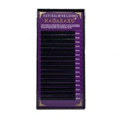 NAGARAKU, Ресницы на ленте Natural Mink, 8/0,07 мм, C-изгиб