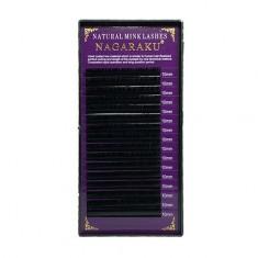 NAGARAKU, Ресницы на ленте Natural Mink, 10/0,07 мм, D-изгиб