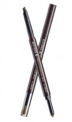 Карандаш-пудра для бровей THE SAEM Eco Soul Pencil & Powder Dual Brow 02 Deep Brown 0,5г*0,3г