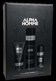 ESTEL PROFESSIONAL Набор для мужчин (тонизирующий шампунь, крем для бритья, крем после бритья) / ALPHA HOMME BASE