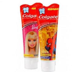 Колгейт Зубная паста Барби, Спайдермен для детей 6+ 75мл COLGATE