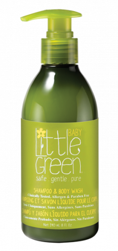 LITTLE GREEN Шампунь и гель для тела, без слез / BABY 240 мл
