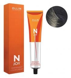 OLLIN PROFESSIONAL 3/12 крем-краска перманентная для волос, темный шатен пепельно-фиолетовый / N-JOY 100 мл