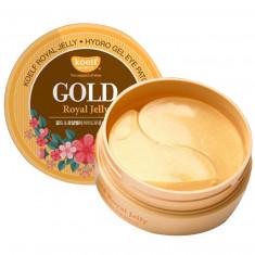 Koelf Патчи для глаз гидрогелевые Золото и Маточное молочко Gold Royal Jelly Hydrogel Eye Patch 60шт