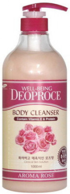 Гель для душа Роза WELL-BEING DEOPROCE AROMA BODY CLEANSER ROSE 1000мл