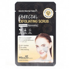 глубоко очищающий гель-скраб с древесным углем mbeauty charcoal exfoliating scrub