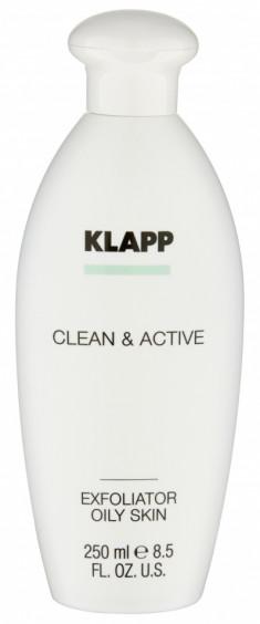 KLAPP Эксфолиатор для жирной кожи / CLEAN & ACTIVE 250 мл