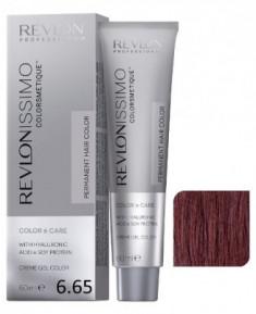 Краска перманентная Revlon Professional Revlonissimo Colorsmetique 6.65 темный блондин красно-махагоновый 60мл