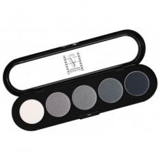 Палитра теней, 5 цветов Make-Up Atelier Paris T12 черно-белые тона