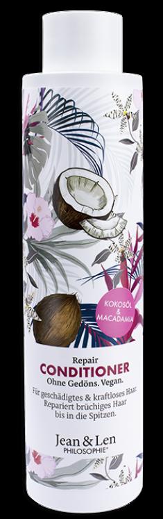 JEAN & LEN Кондиционер восстанавливающий с кокосовым маслом и макадамией / PHILOSOPHI CONDITIONER REPAIR KOKOSOL & MACADAMIA 300 мл