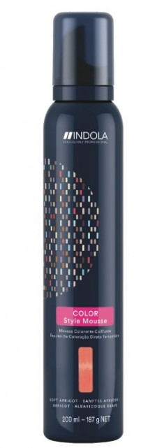 INDOLA Мусс оттеночный для укладки волос, мягкий абрикос / Color Style Mousse 200 мл