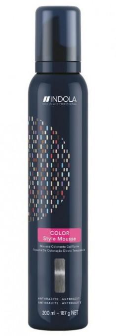 INDOLA Мусс оттеночный для укладки волос, антрацит / Color Style Mousse 200 мл