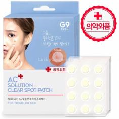 маска-патч для проблемной кожи berrisom g9 skin ac solution acne clear spot patch