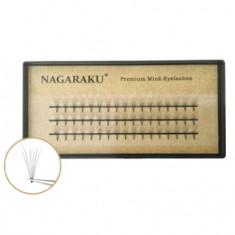 NAGARAKU, Пучки ресниц 6D, на ленте, C-изгиб, норка, 11 мм